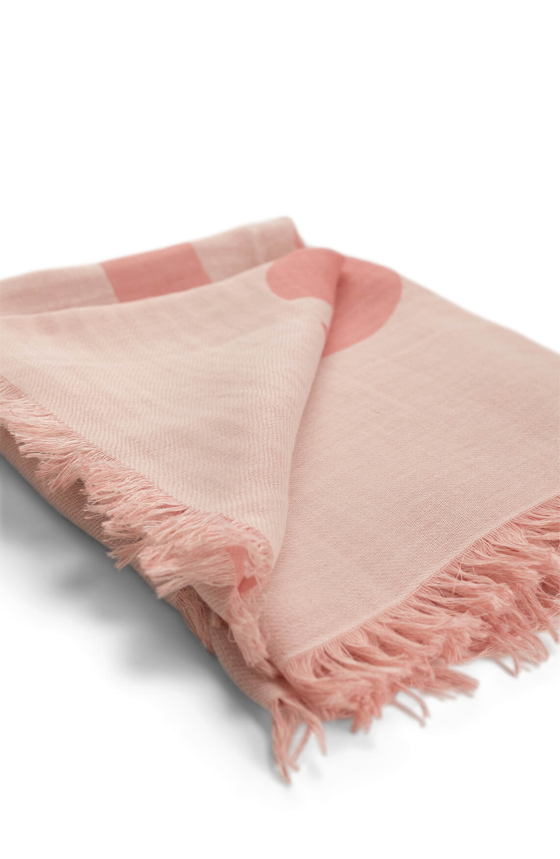 Closed Dames Shawl Roze