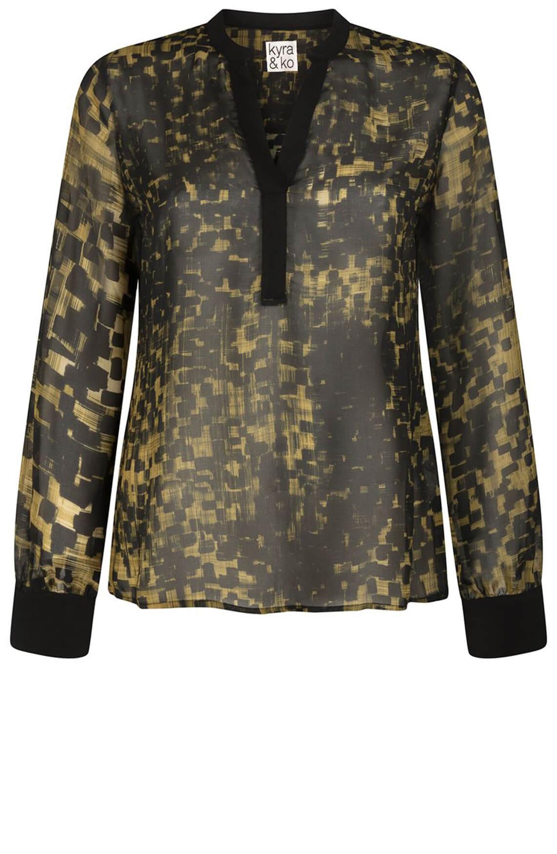 Kyra & Ko Dames Rozemarijn blouse Groen
