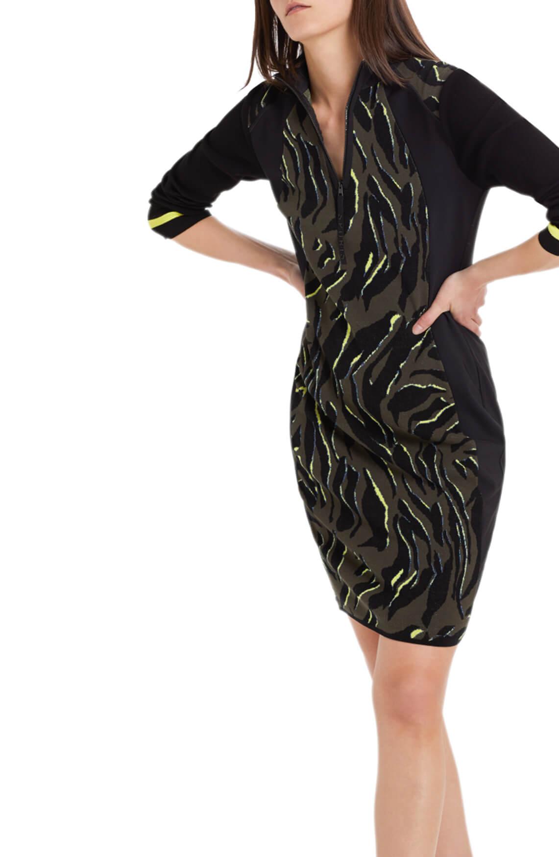 Marccain Sports Dames Jacquard jurk zwart