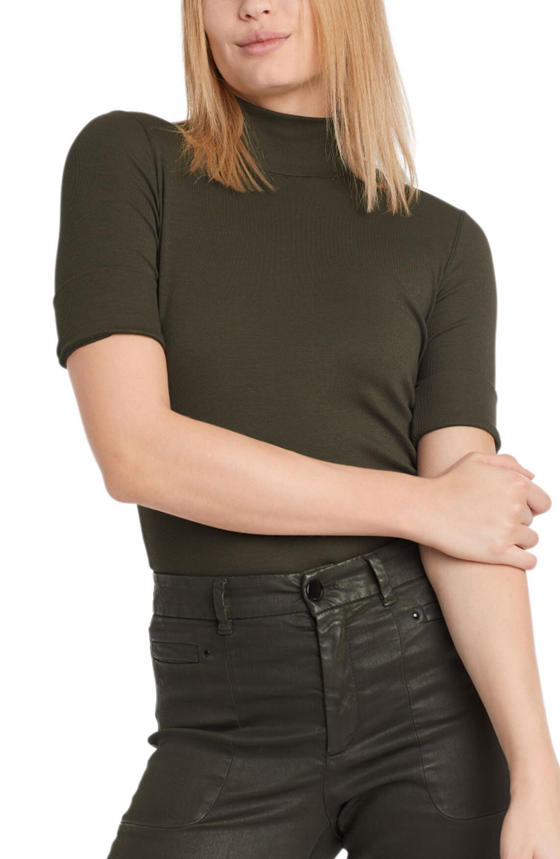 Marccain Sports Dames Shirt met colkraag groen