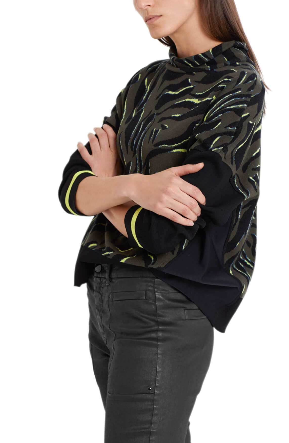 Marccain Sports Dames Jacquard trui zwart