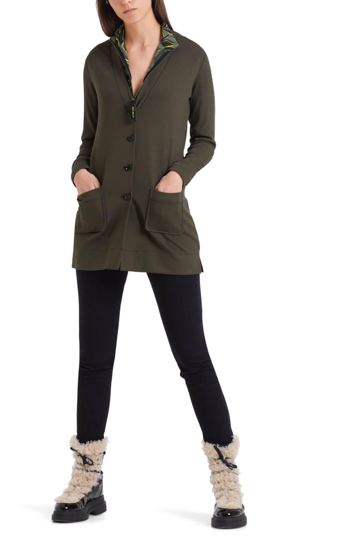 Marccain Sports Dames Vest van katoen jersey groen