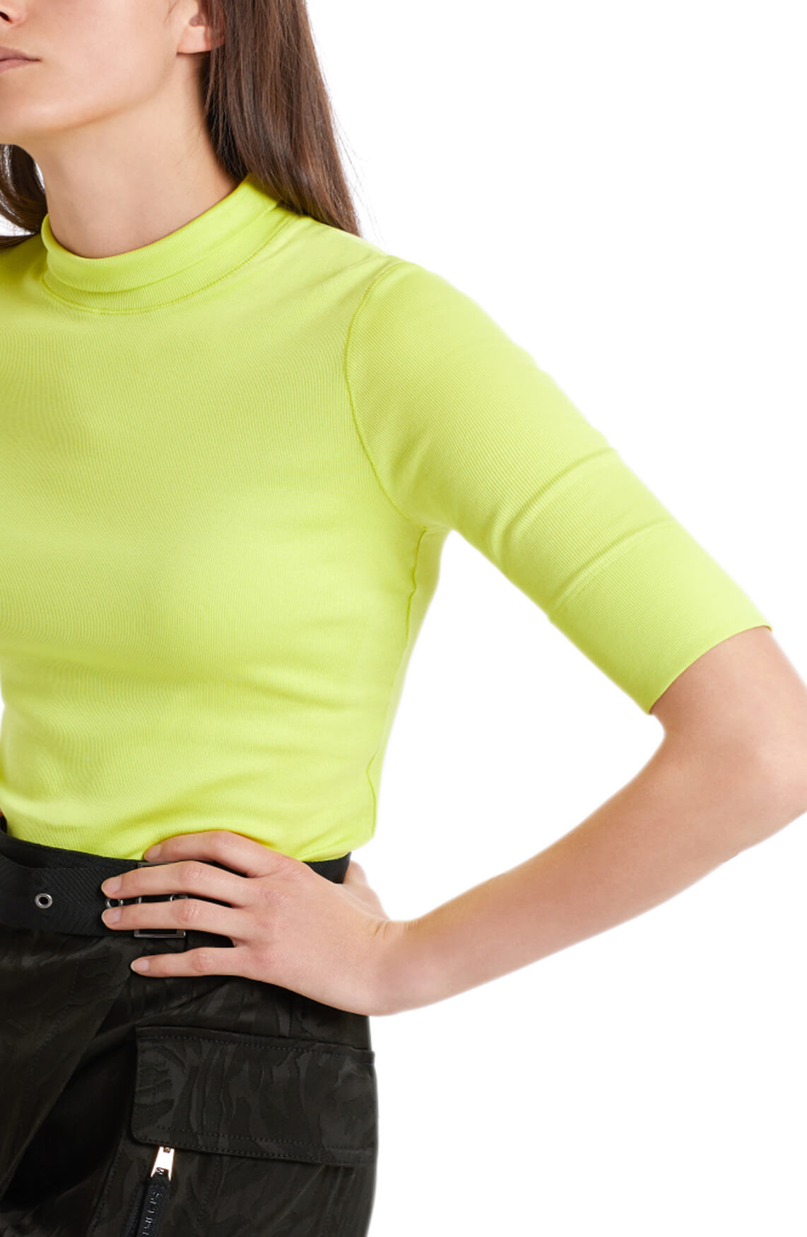 Marccain Sports Dames Shirt met colkraag geel