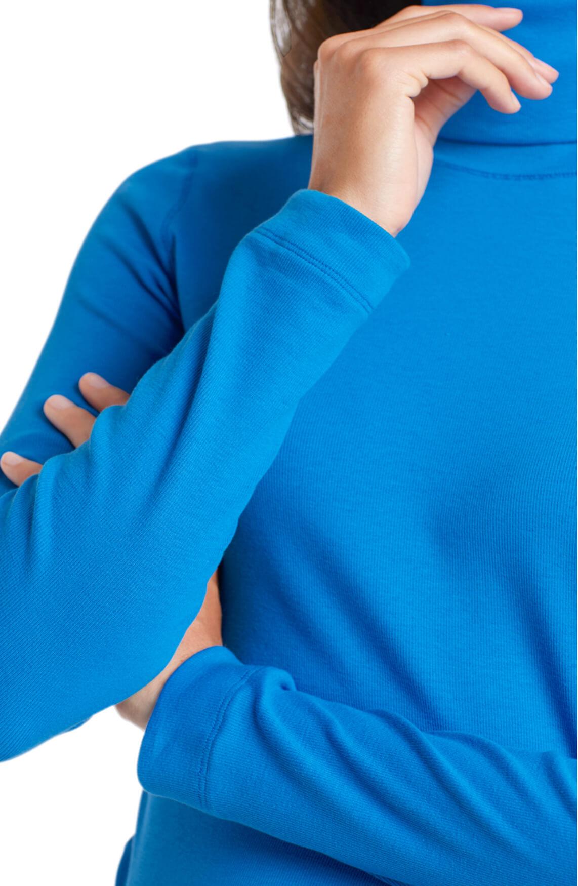 Marccain Sports Dames Shirt met rolkraag Blauw