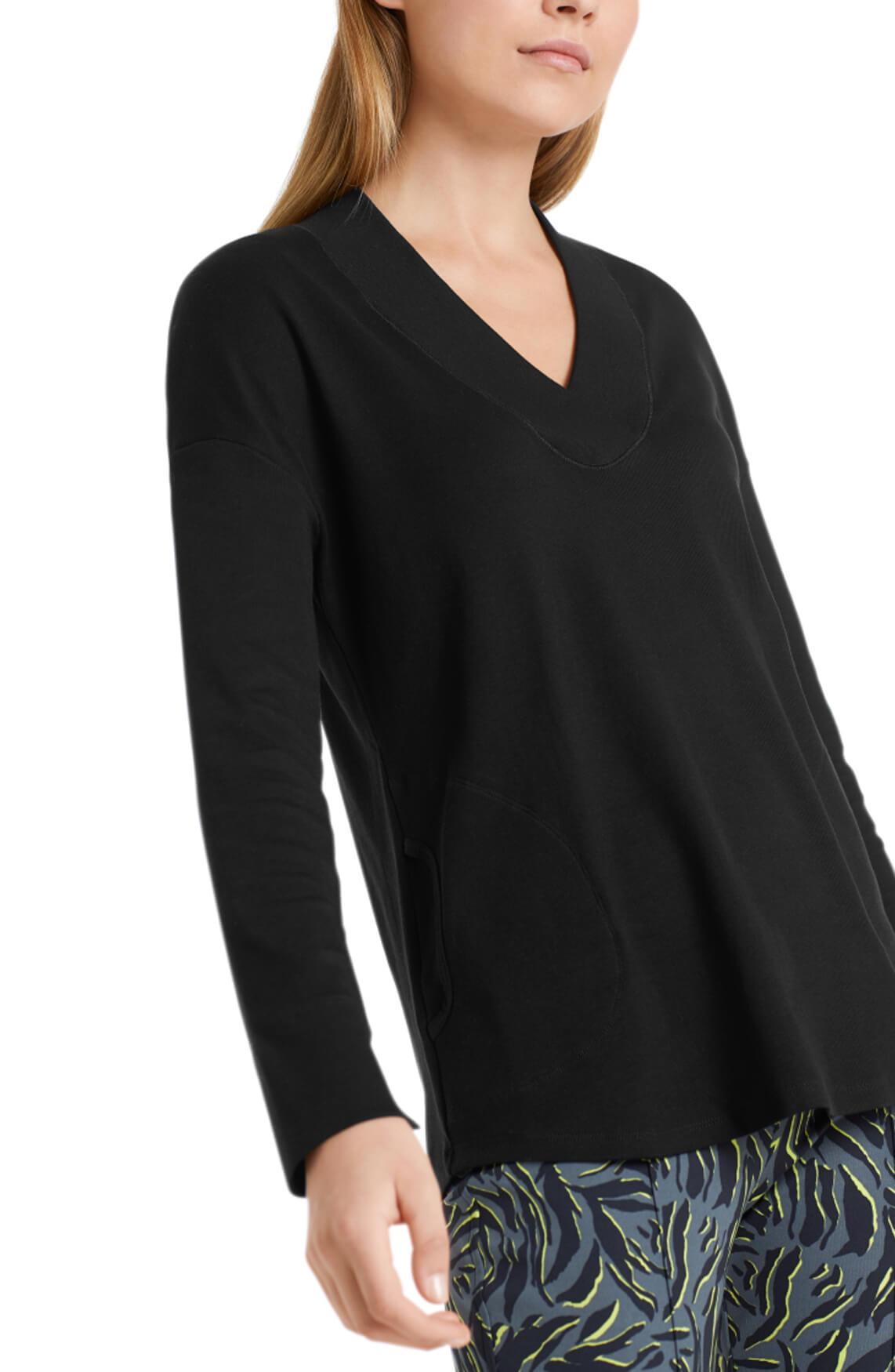 Marccain Sports Dames Shirt met V-hals zwart