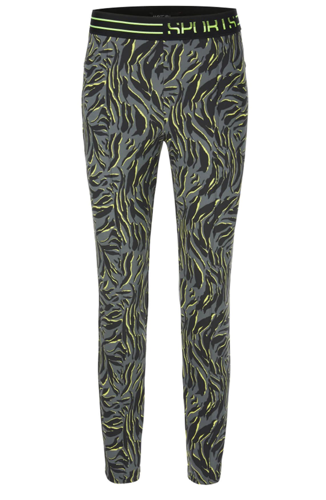 Marccain Sports Dames Pantalon met zebraprint Grijs