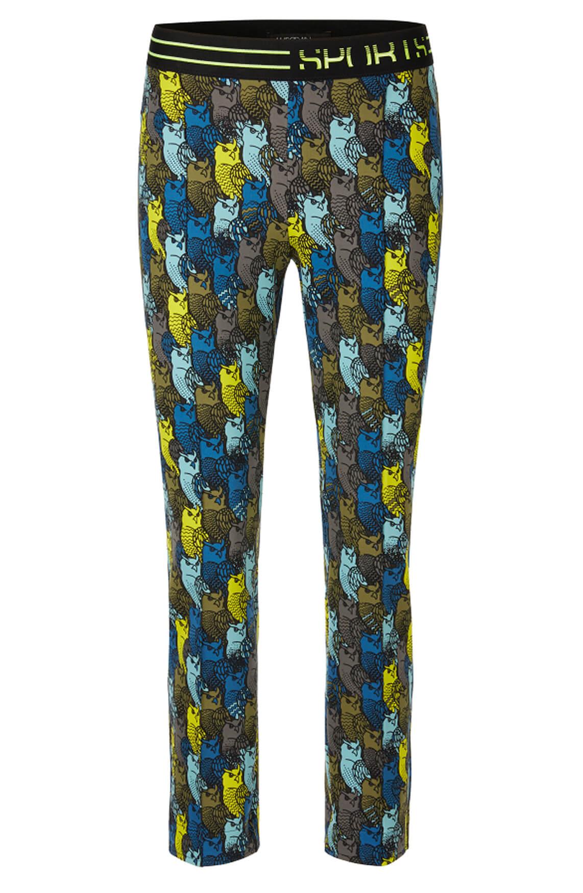 Marccain Sports Dames Pantalon met uilen Grijs