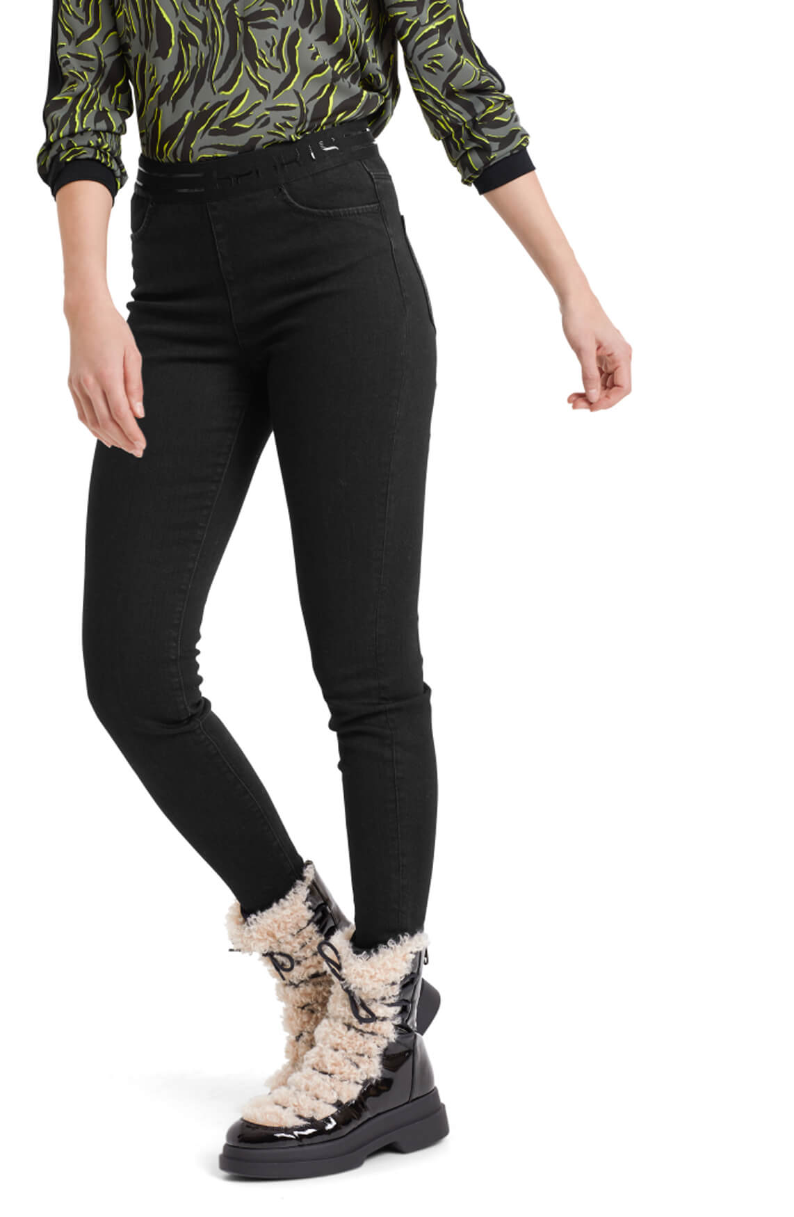 Marccain Sports Dames High-waist tregging zwart