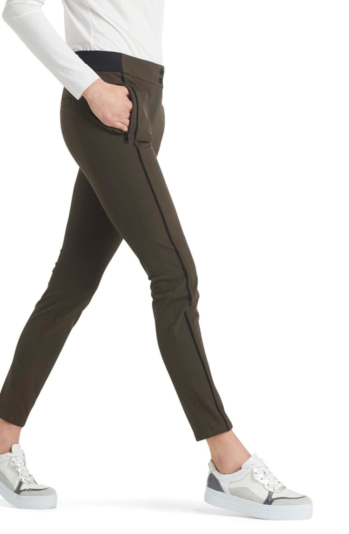 Marccain Sports Dames Slim-fit broek groen