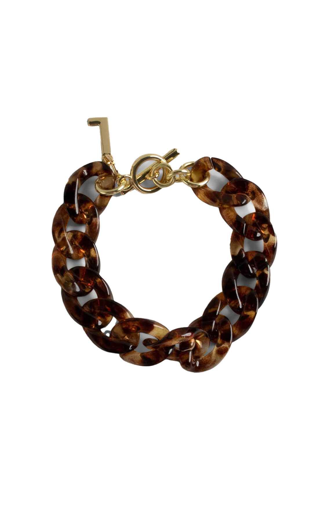 Lins. Amsterdam Dames Leopard armband Bruin