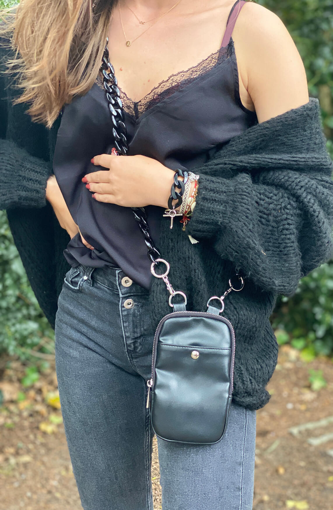 Lins Dames Vera armband Zwart