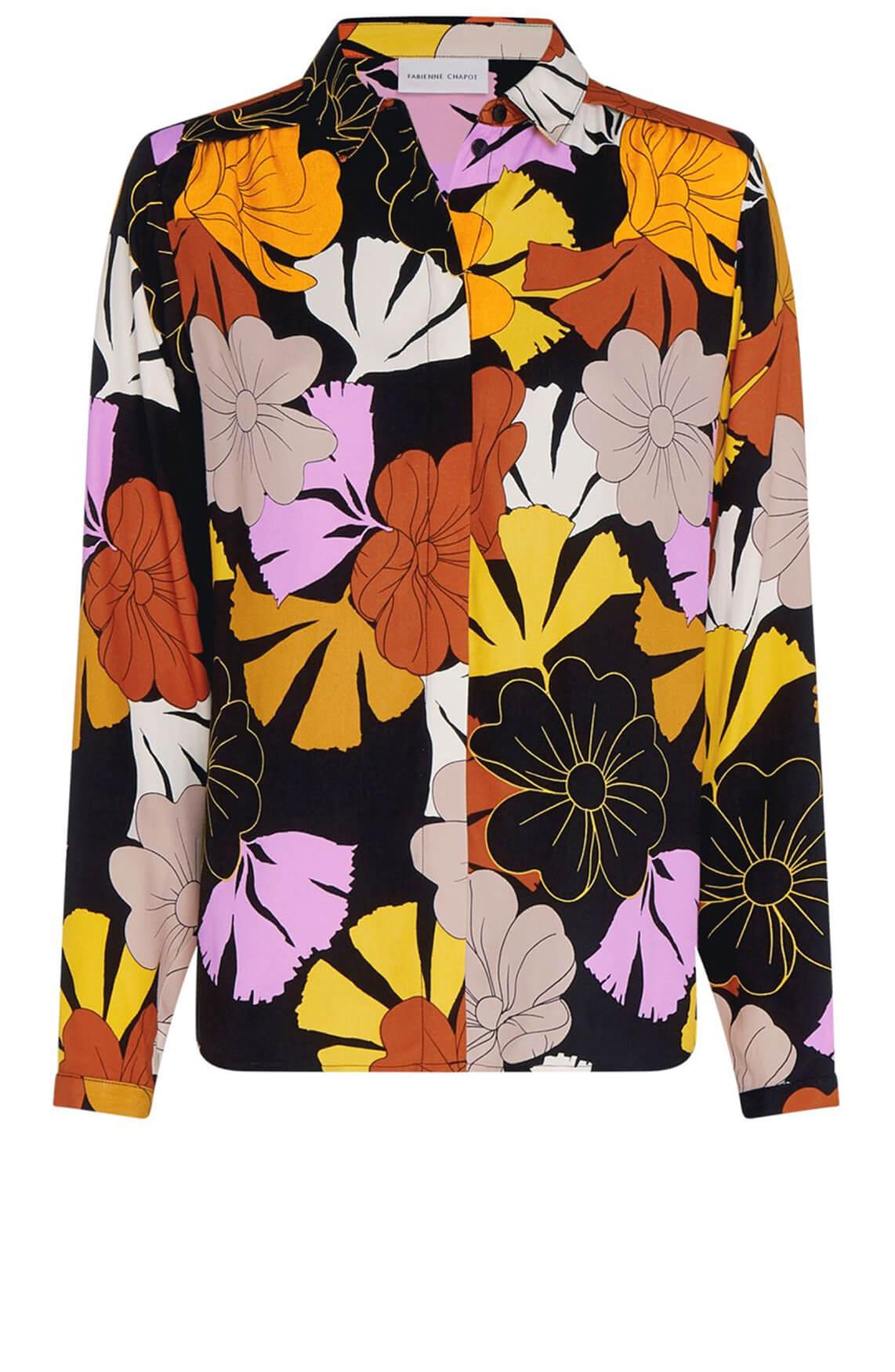 Fabienne Chapot Dames Sunrise retro blouse zwart