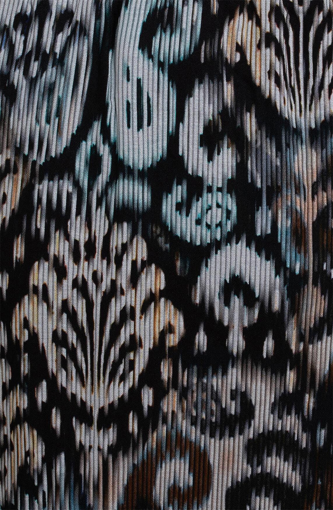 Anna Dames Rok met barok print zwart