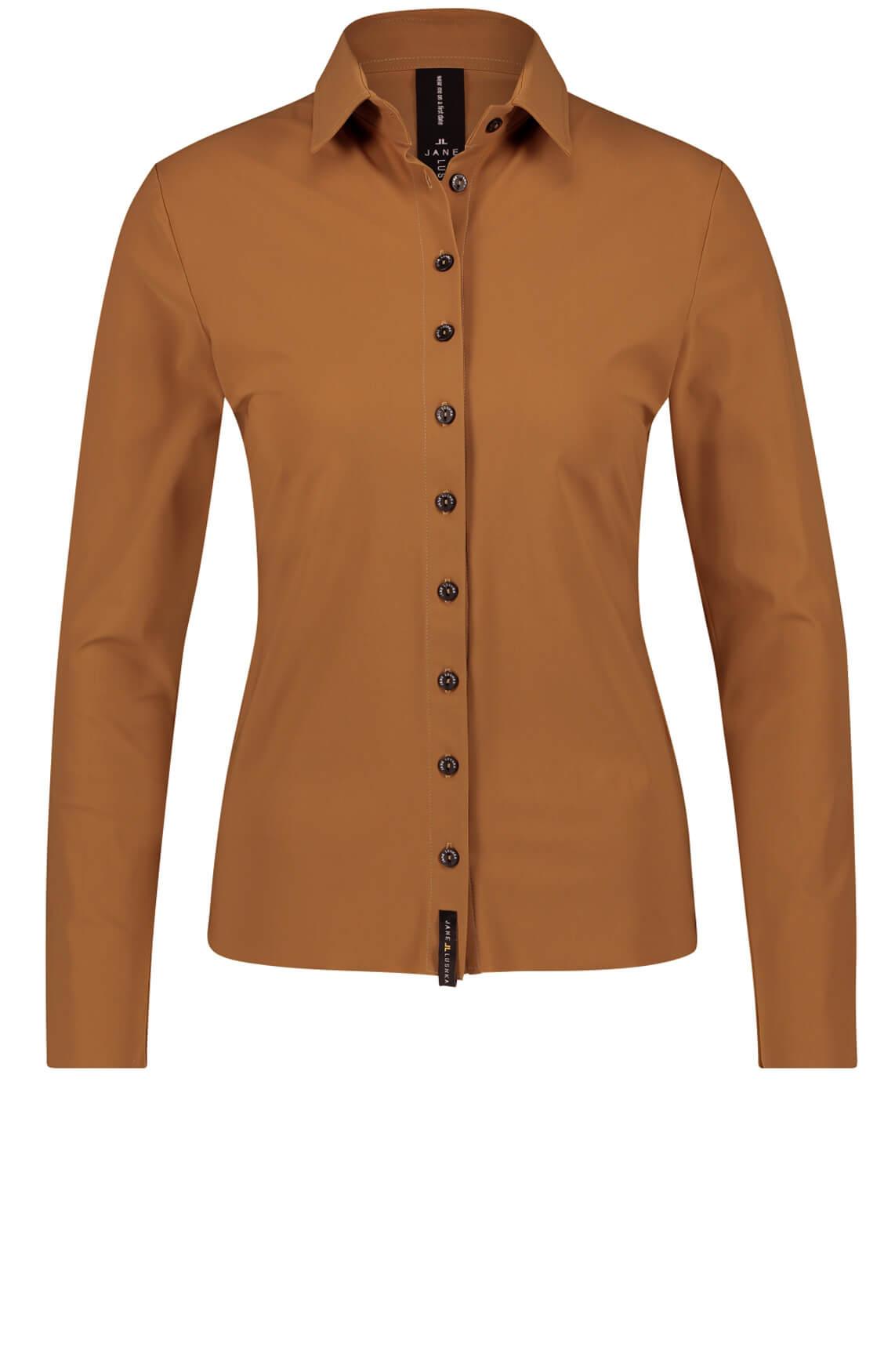 Jane Lushka Dames Kikkie blouse Bruin