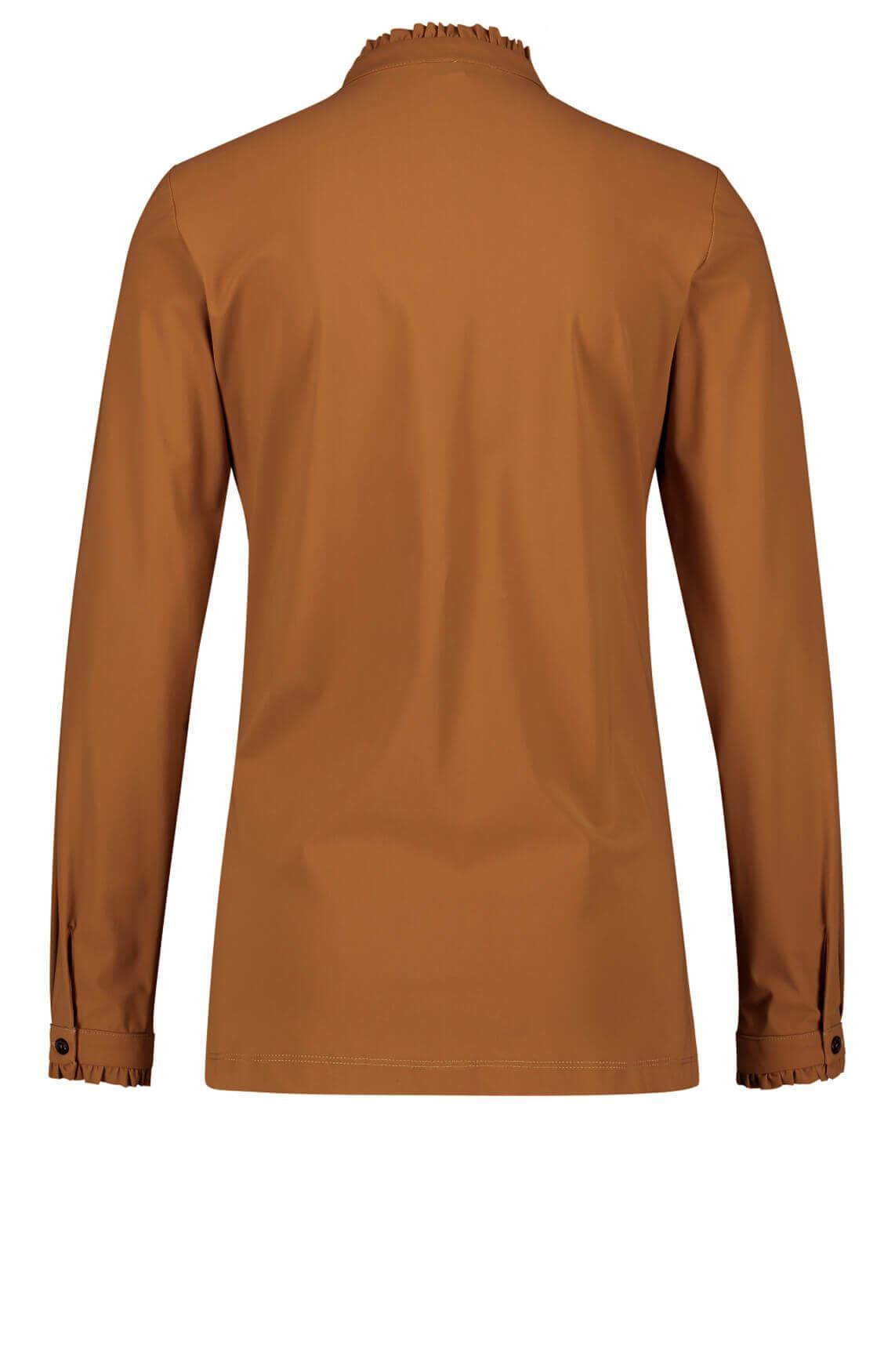 Jane Lushka Dames Lora blouse Bruin