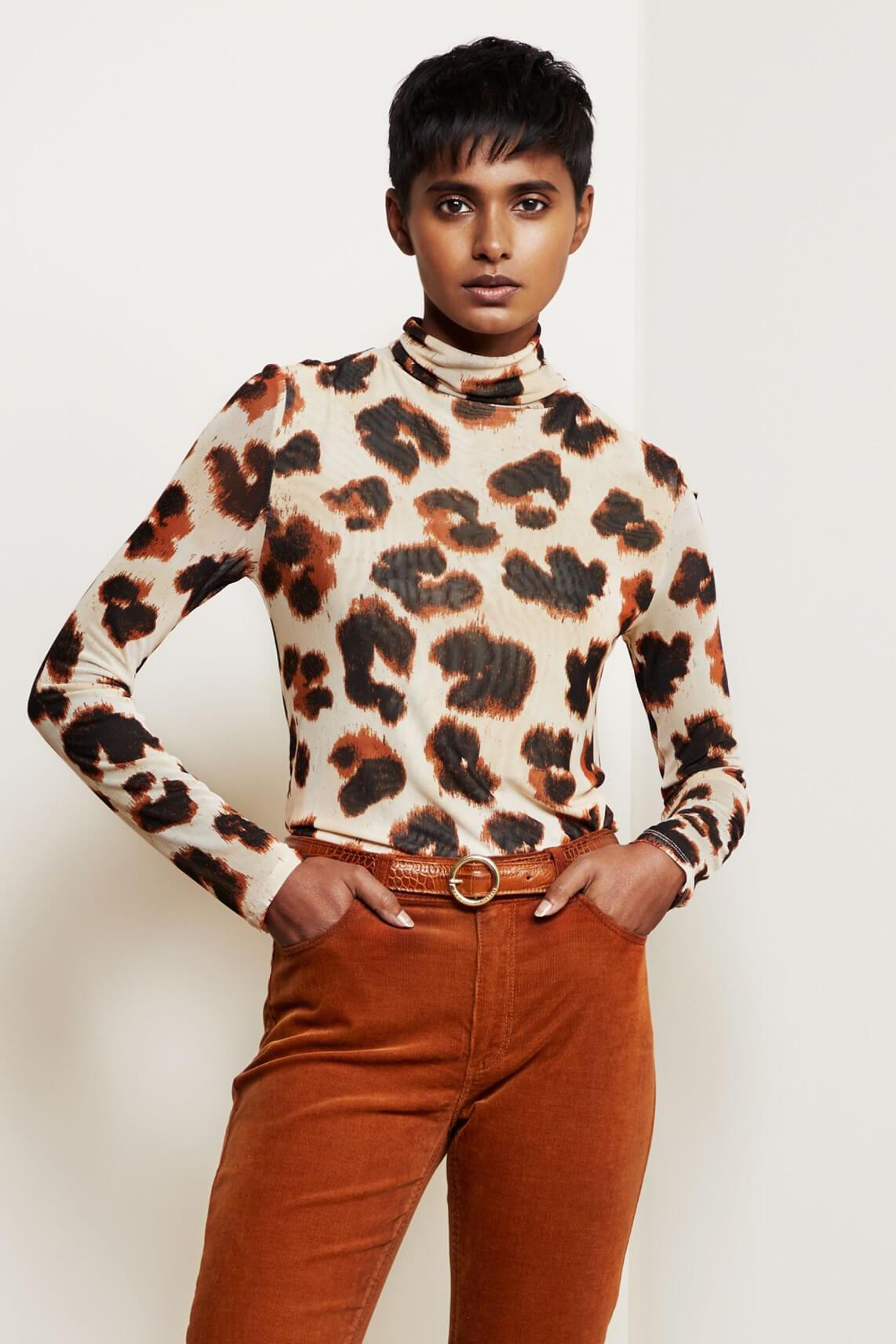 Fabienne Chapot Dames Jane mesh shirt Ecru