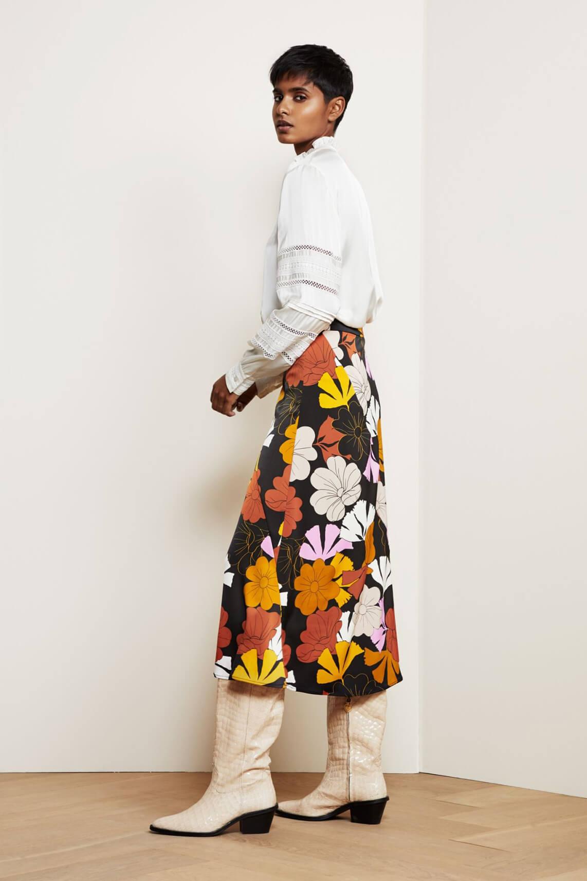 Fabienne Chapot Dames Claire retro rok zwart