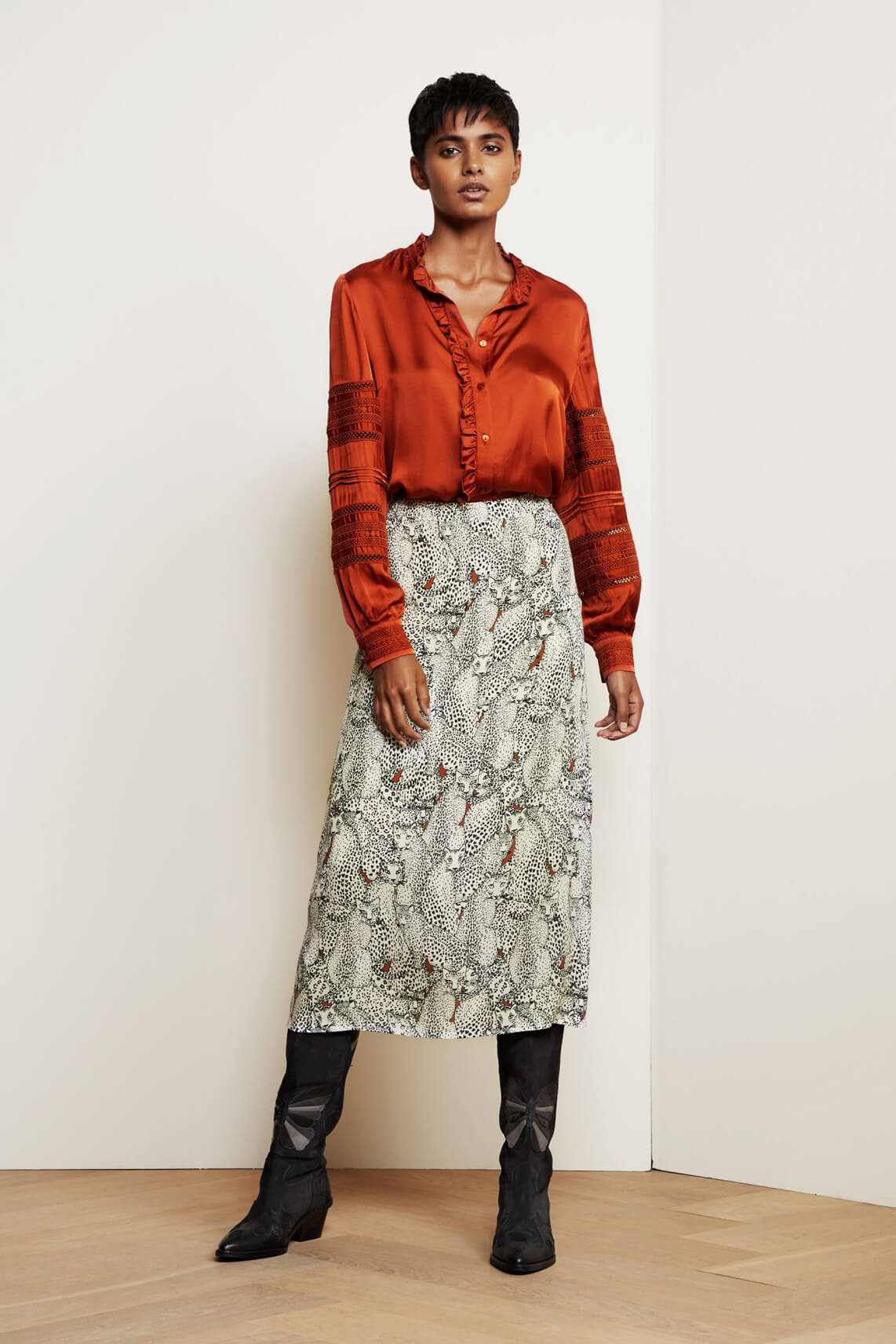 Fabienne Chapot Dames Loua blouse Bruin