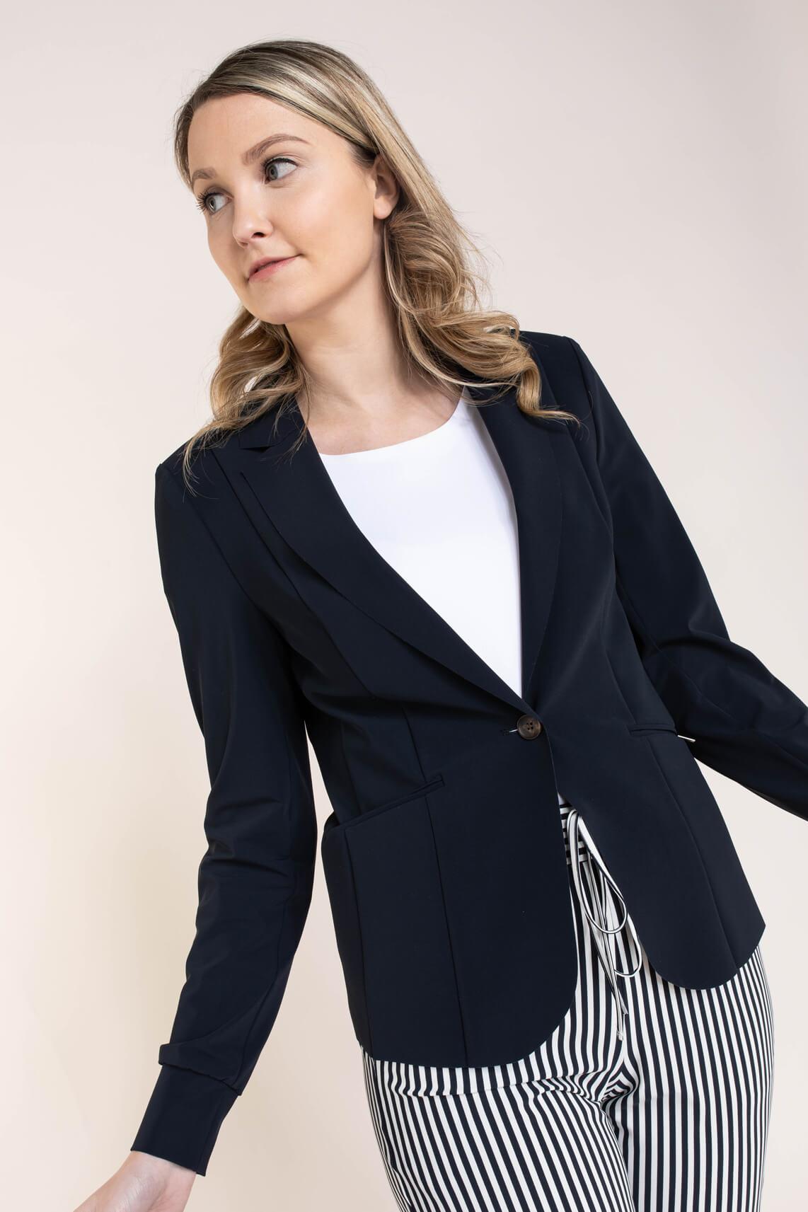 Anna Dames Blazer van travel kwaliteit Blauw