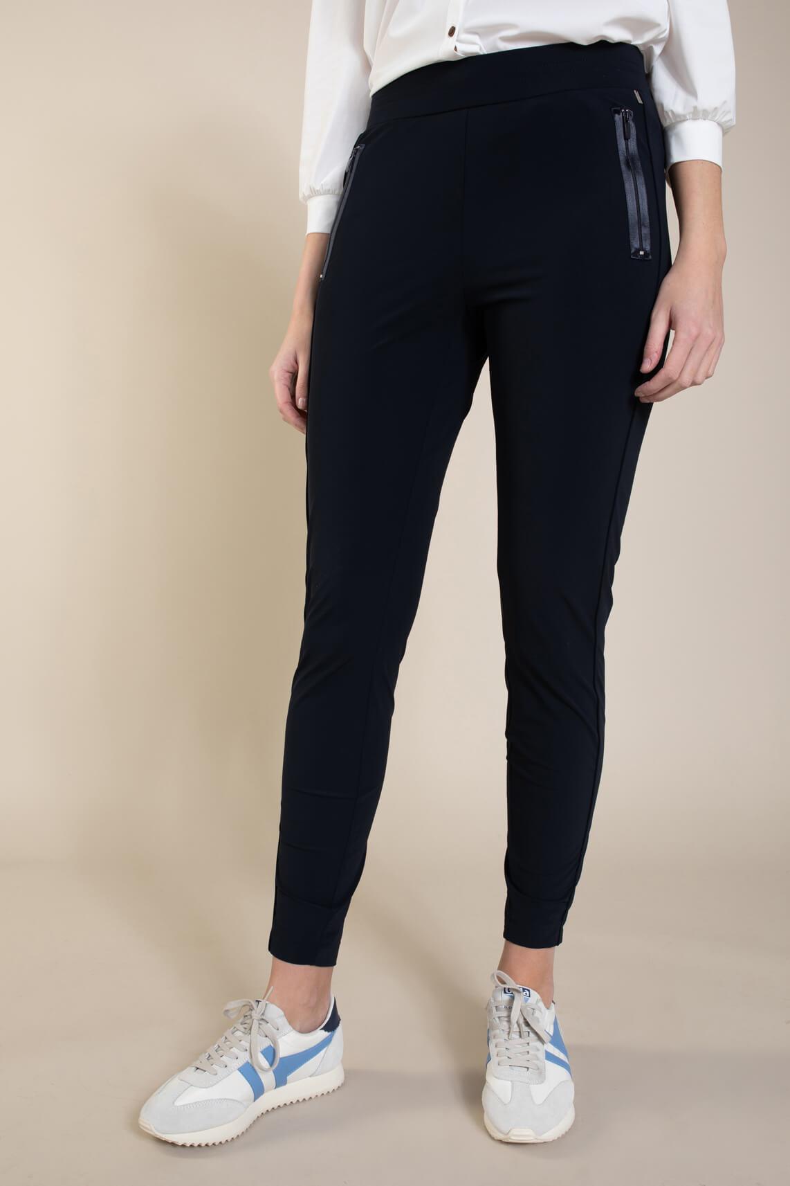 Anna Dames Jersey sensitive broek Blauw