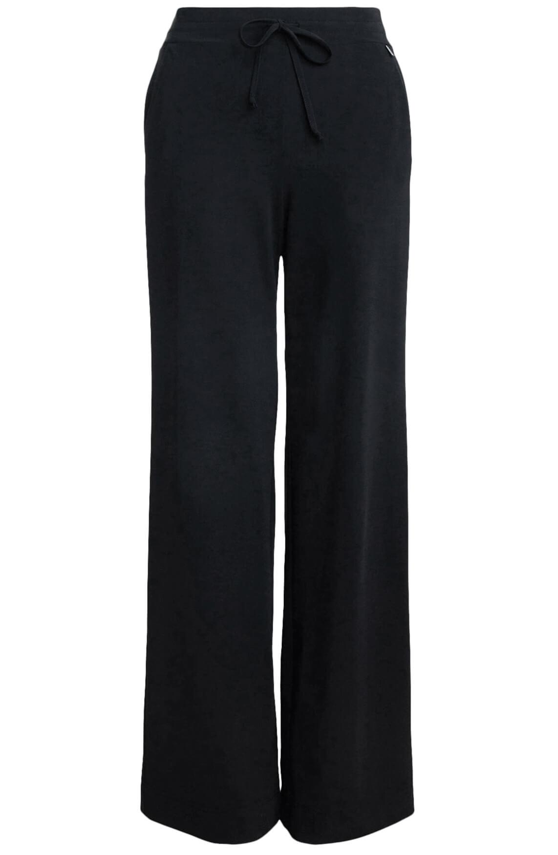 Anna Dames Jogpantalon van travel kwaliteit Zwart