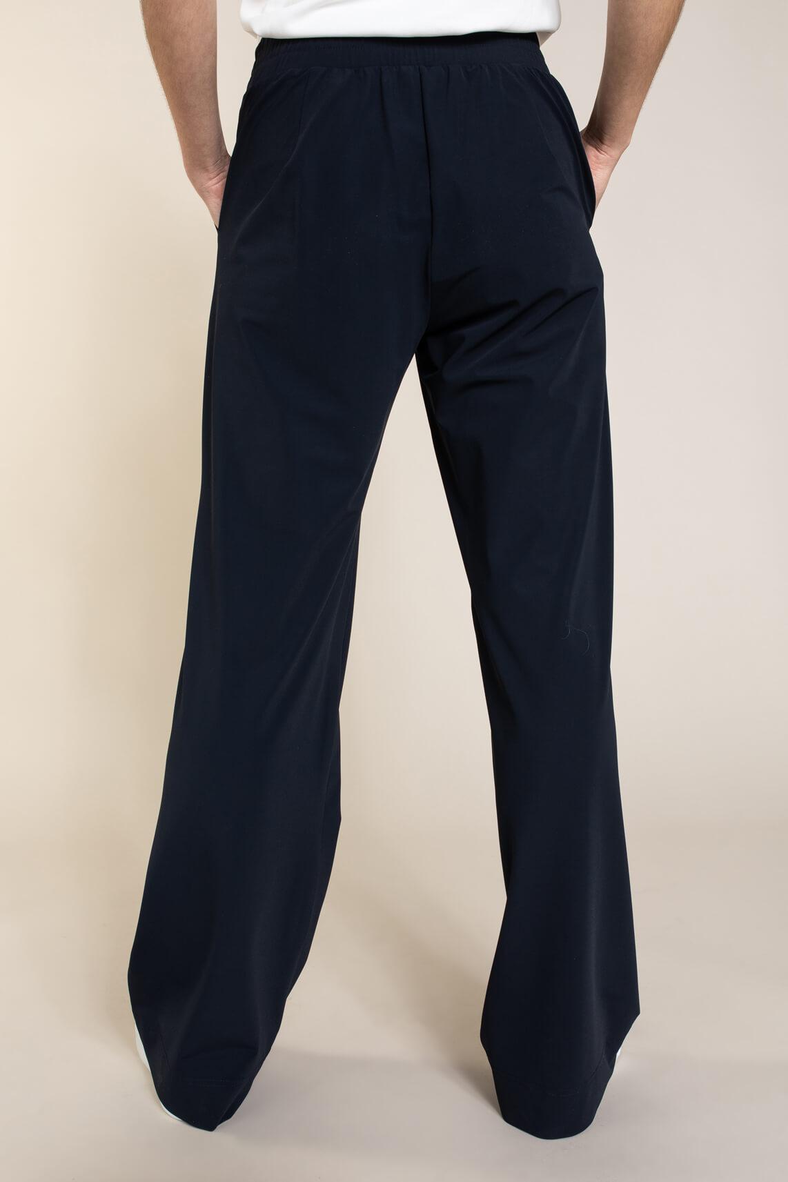 Anna Dames Pantalon van travel kwaliteit Blauw