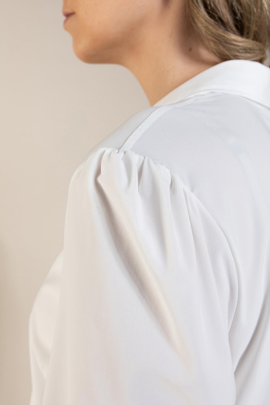 Anna Dames Jersey sensitive blouse wit
