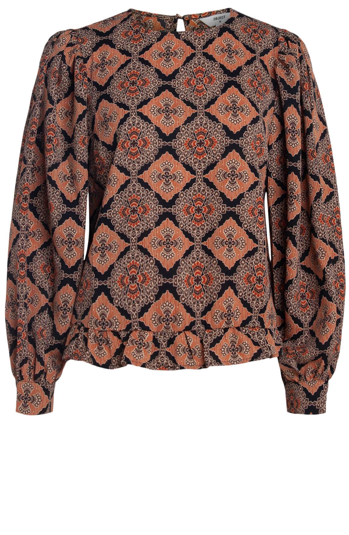 Object Dames Lisa blouse Bruin