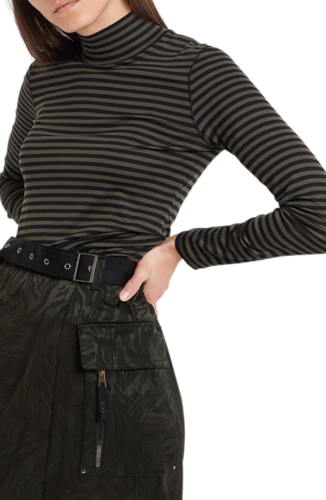 Marccain Sports Dames Gestreept shirt zwart
