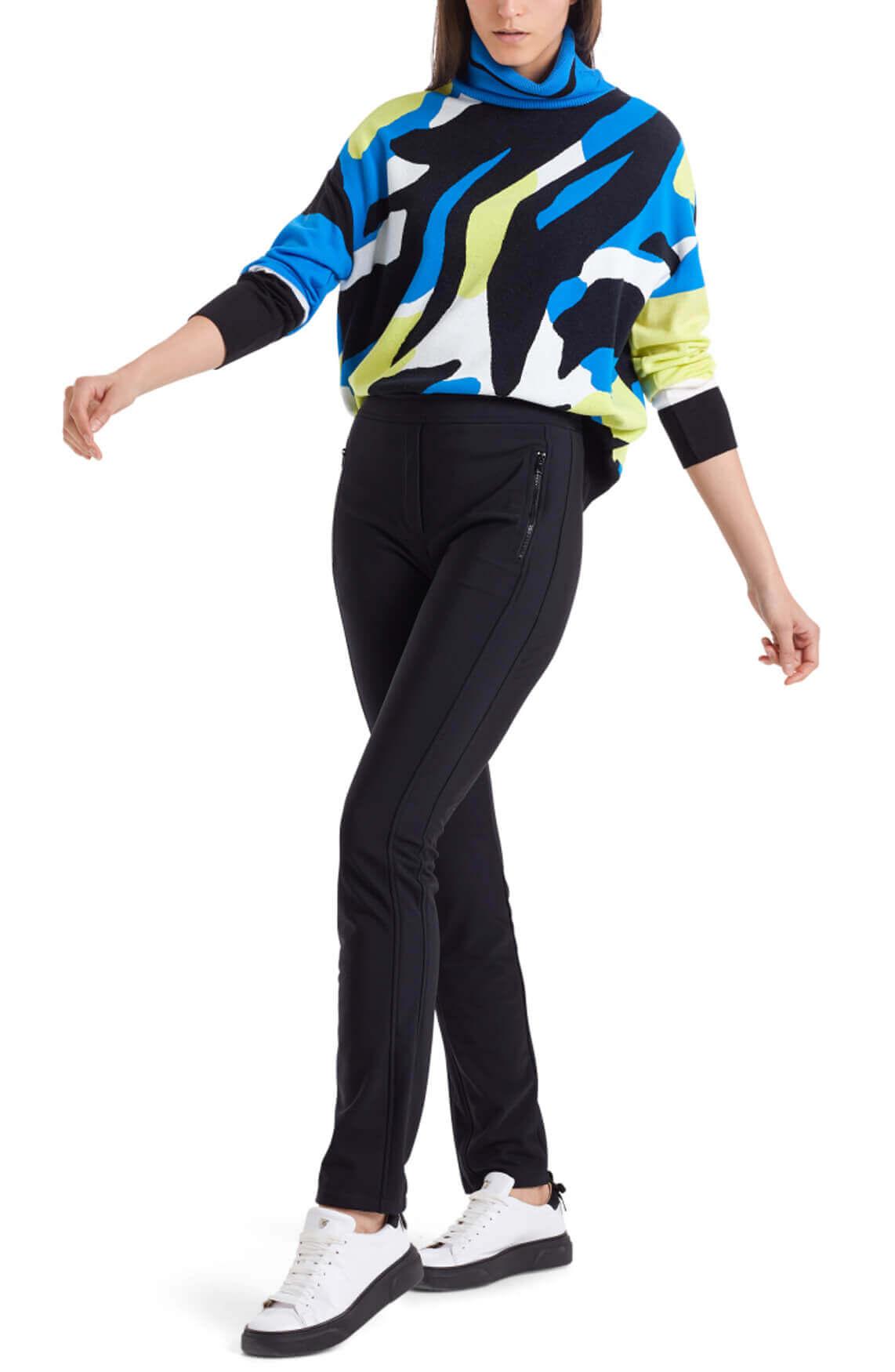 Marccain Sports Dames Kleurrijke coltrui Blauw