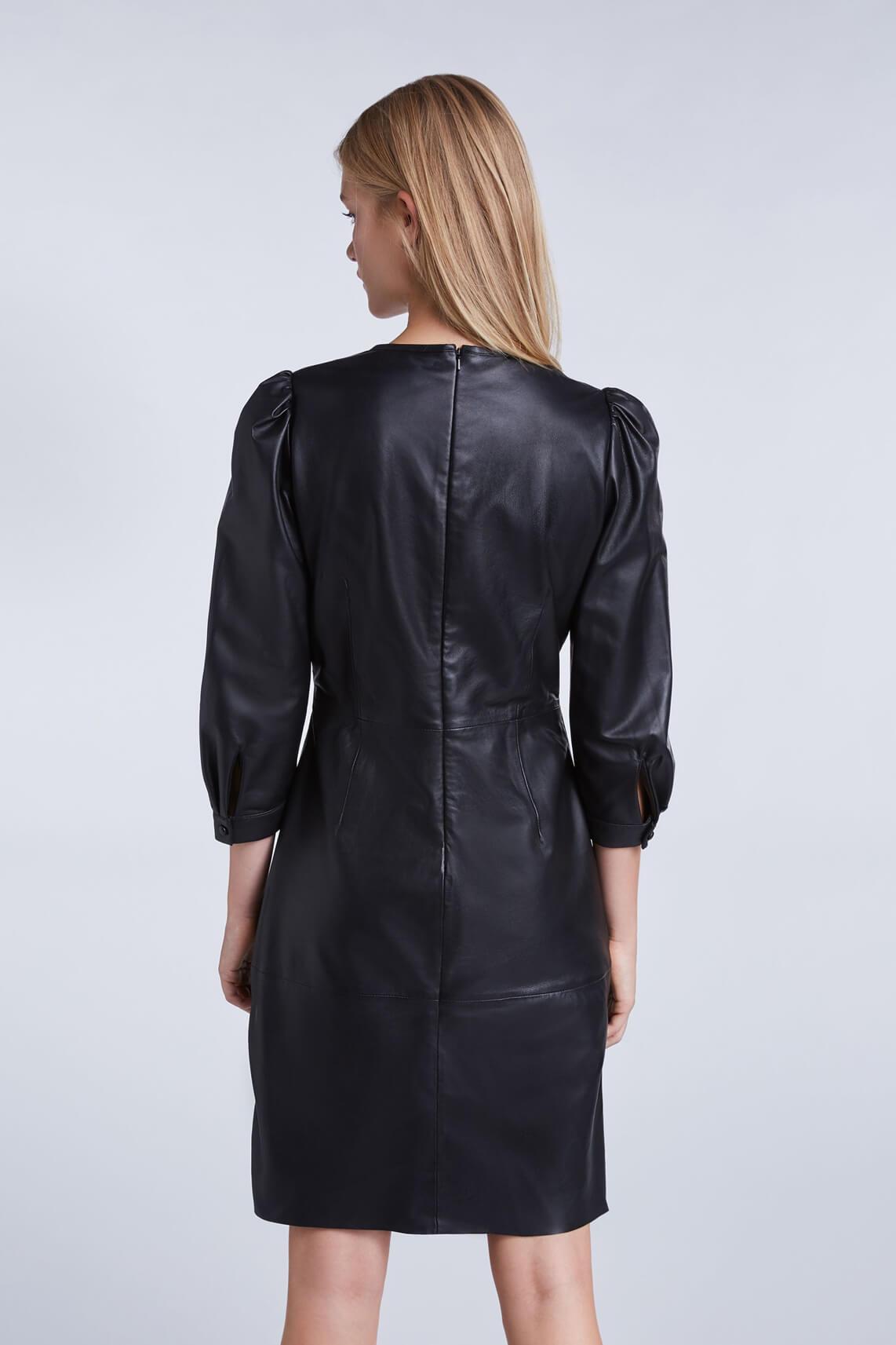 Set Dames Leren jurk zwart