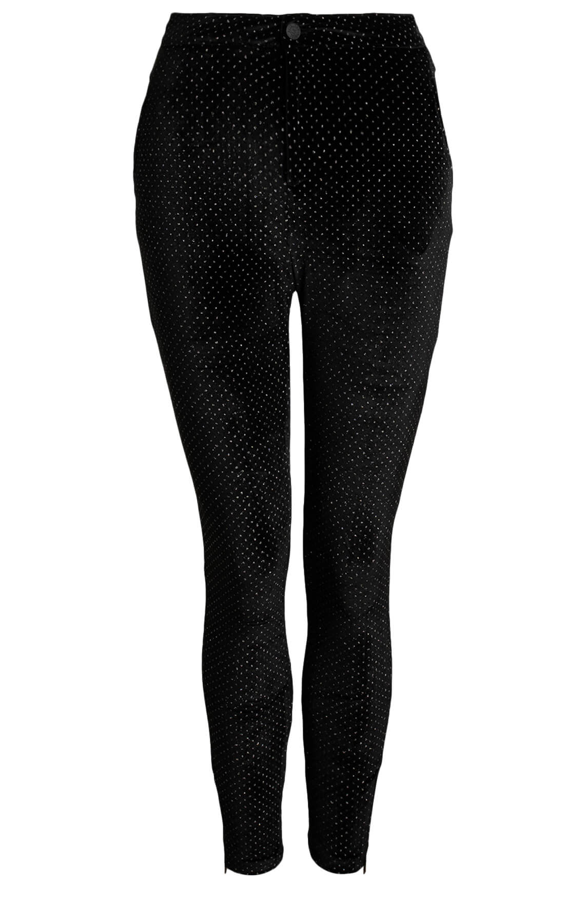 Alix The Label Dames Velvet broek zwart