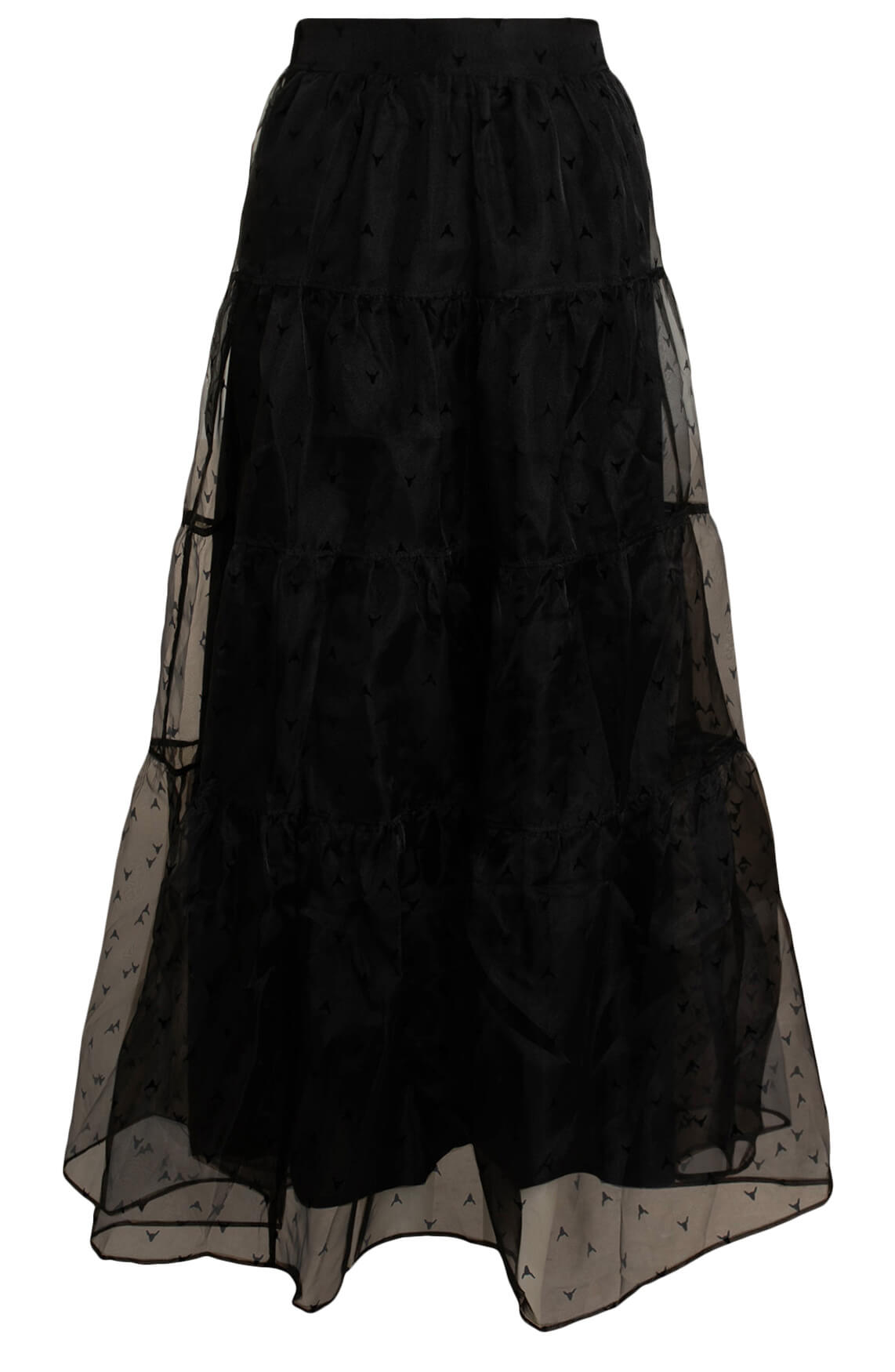 Alix The Label Dames Organza rok zwart