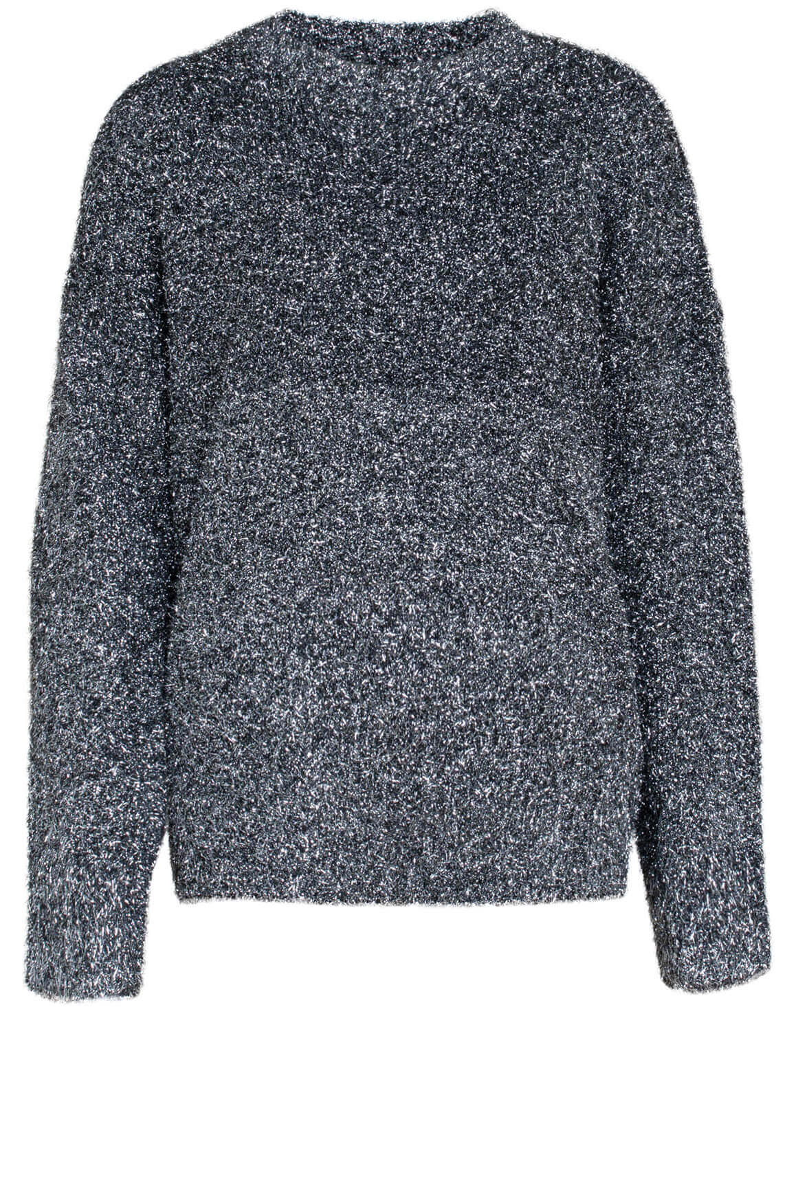 Alix The Label Dames Metallic pullover Zilver