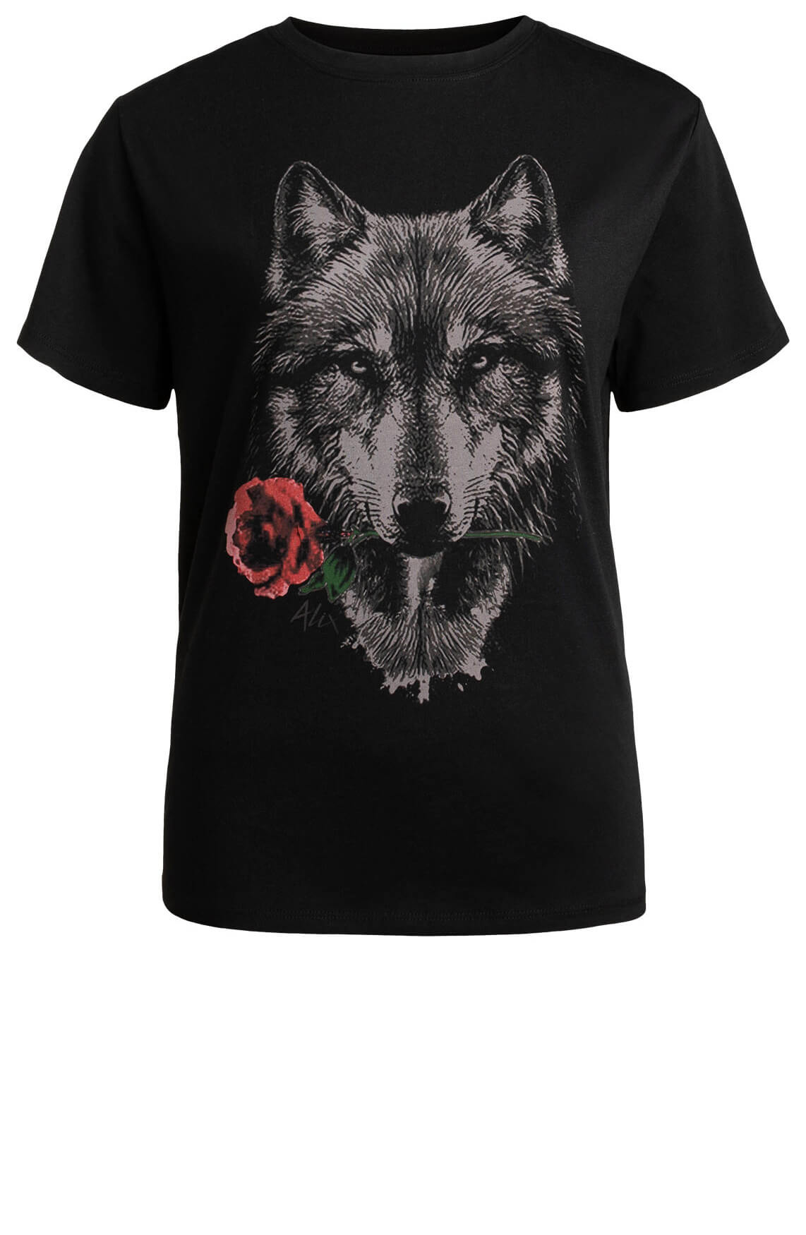 Alix The Label Dames Wolf shirt zwart