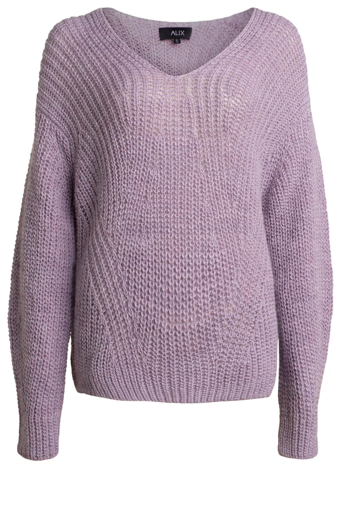 Alix The Label Dames V-neck pullover Paars