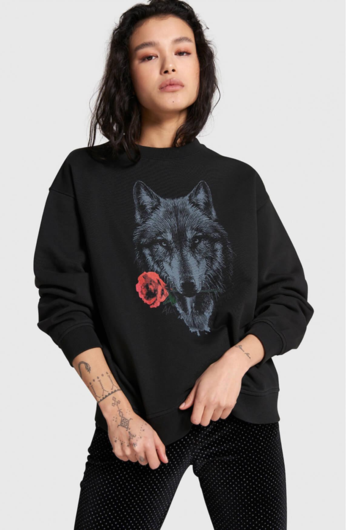 Alix The Label Dames Wolf sweater zwart