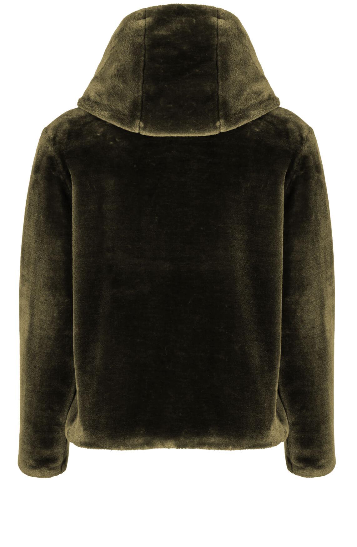 Giacomo Dames Faux fur jasje groen
