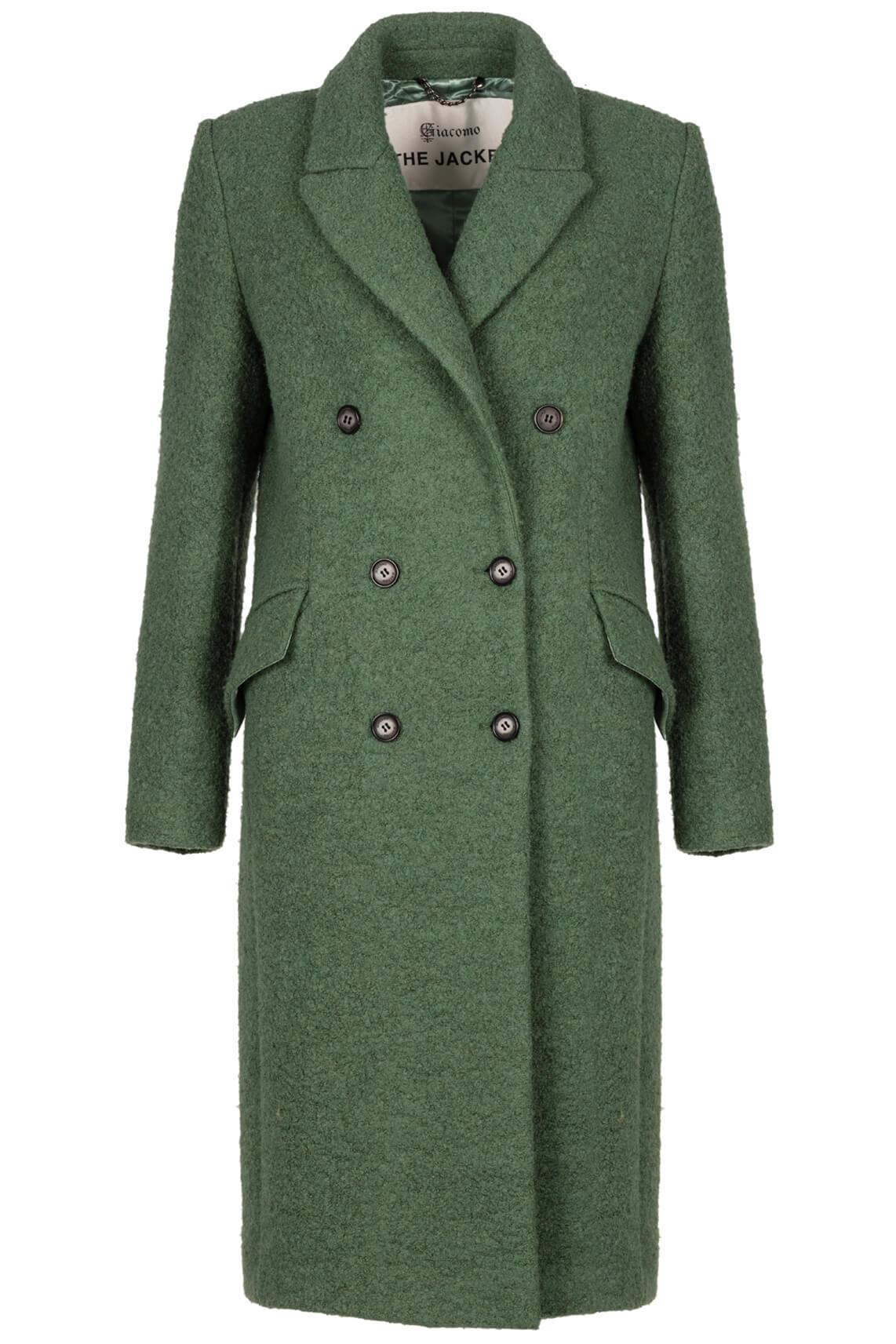 Giacomo Dames Lange mantel Groen