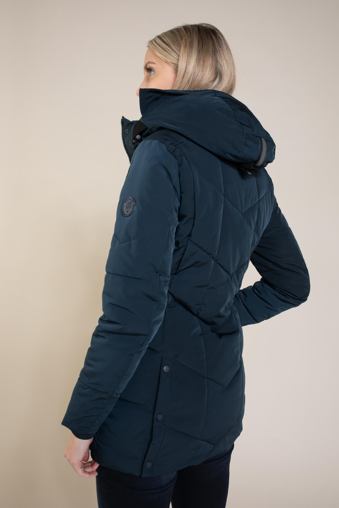 Giacomo Dames Coat met capuchon Blauw