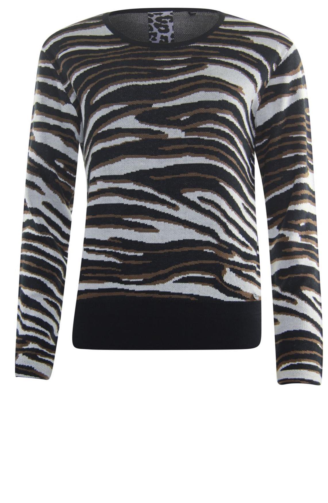 Poools Dames Zebra sweater Bruin