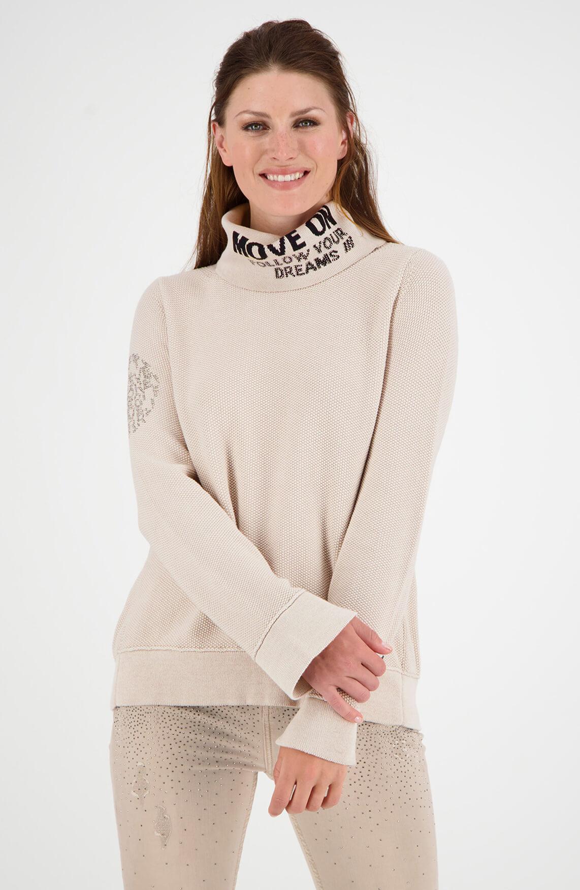 Monari Dames Pullover met colkraag Ecru