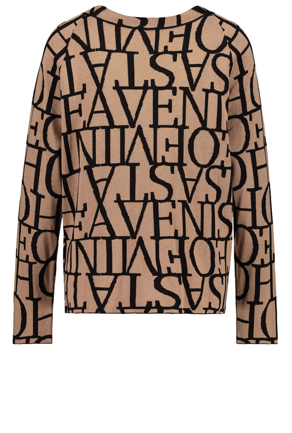 Monari Dames Gebreide sweater Bruin