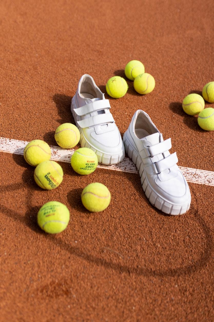 Deabused Dames Sneaker met grove zool Wit