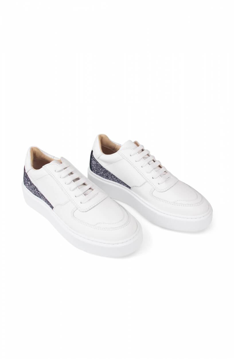 Deabused Dames Sneaker met glitter Wit