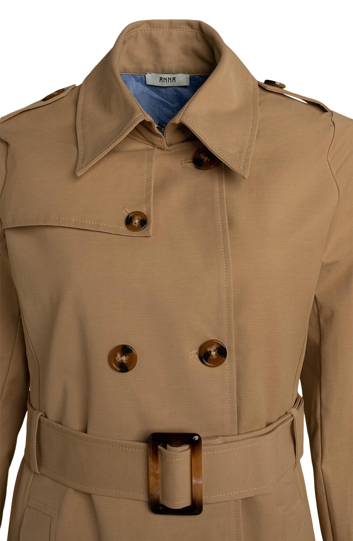 Anna Dames Trenchcoat Bruin