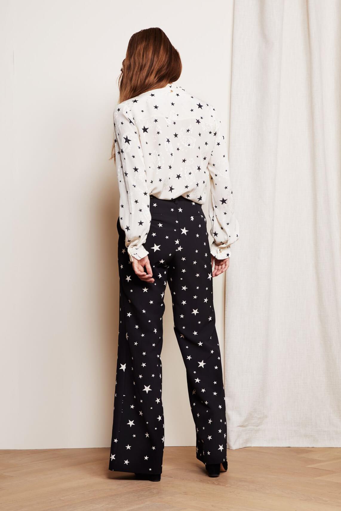 Fabienne Chapot Dames Puck starry pantalon zwart