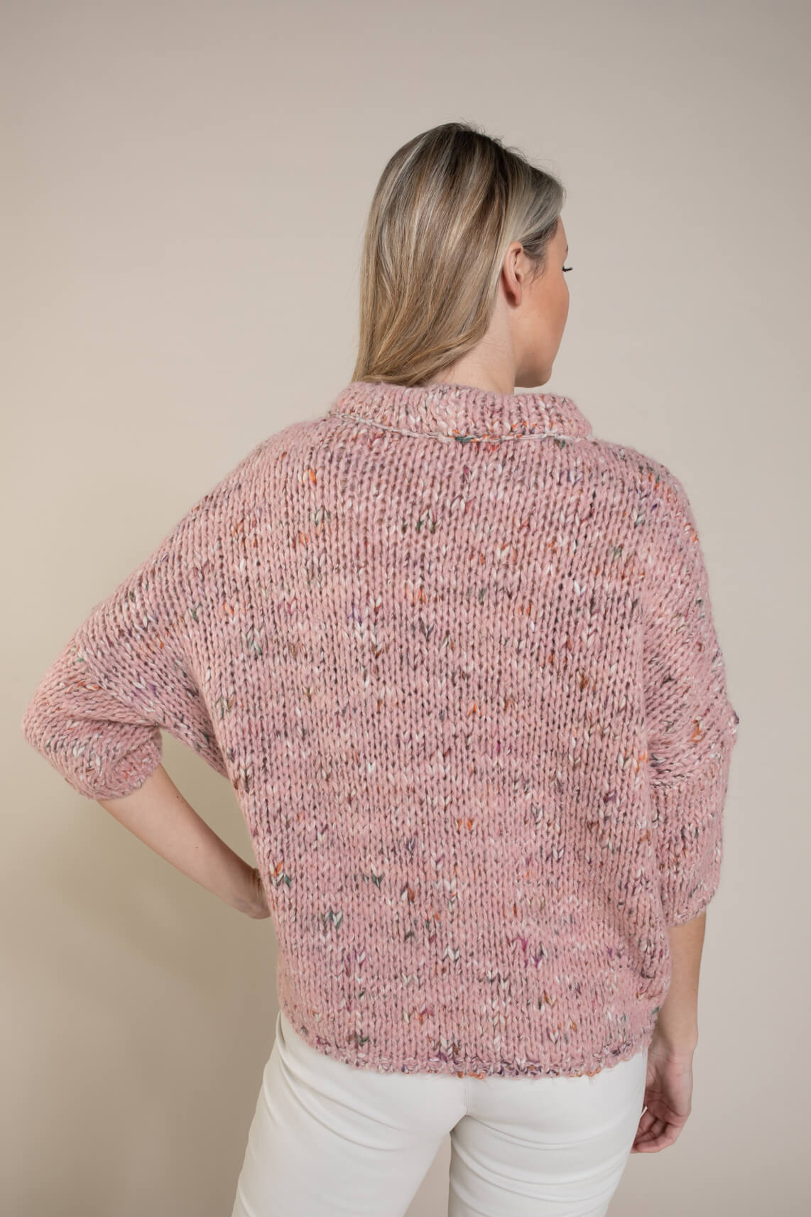 La Fée Maraboutée Dames Kleurrijke pullover roze