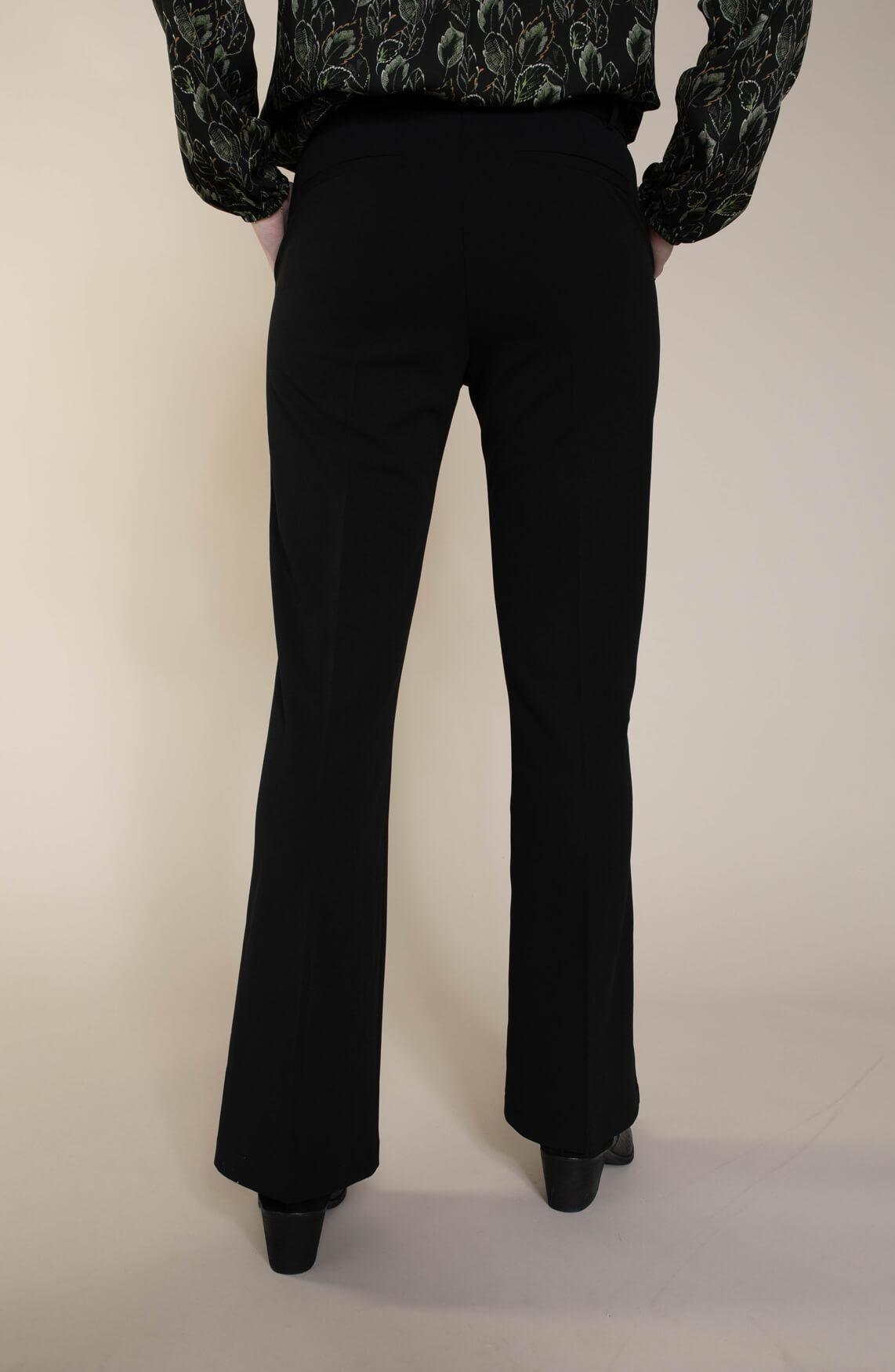 Geisha Dames Flared pantalon zwart