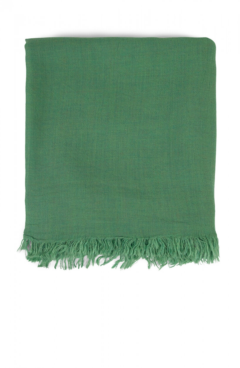 Anna Dames Shawl met franjes Groen